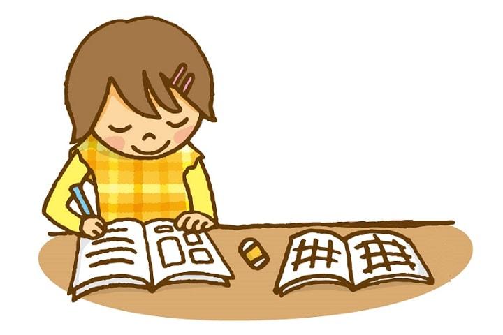 小学校中学年で1時間×2回 勉強に集中できるようにする